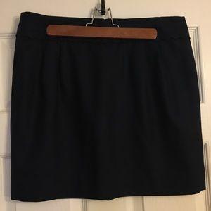 NWOT NEVER WORN scalloped Navy JCrew skirt